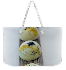 White Chocolate With Black Sesame Weekender Tote Bag