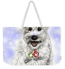 White Christmas Doggy Weekender Tote Bag