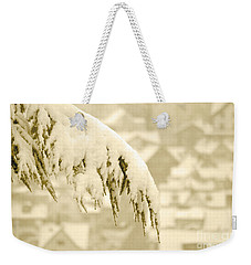 Weekender Tote Bag featuring the photograph White Christmas - Winter In Switzerland by Susanne Van Hulst
