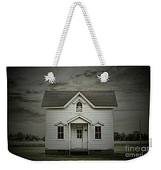 Weekender Tote Bag featuring the photograph White Clapboard by Debra Fedchin