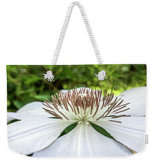 White Clematis Flower Garden 50146 Weekender Tote Bag