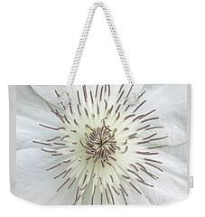 White Clematis Flower Macro 50121c Weekender Tote Bag