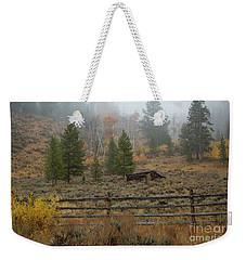White Cloud Cabin Weekender Tote Bag