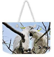 White Cockatoos Weekender Tote Bag