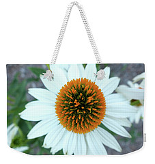 White Cone Flower Weekender Tote Bag