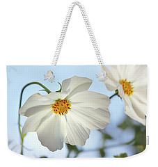 White Cosmos-1 Weekender Tote Bag