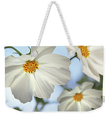 White Cosmos-2 Weekender Tote Bag