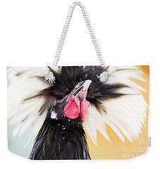 White Crested Black Polish  Weekender Tote Bag