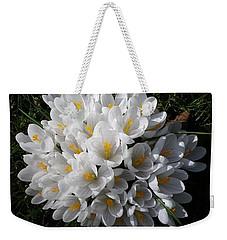 White Crocuses Weekender Tote Bag