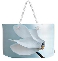 White Cyclamen. Weekender Tote Bag by Terence Davis