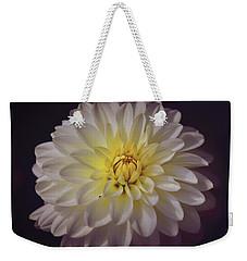White Dahlia Weekender Tote Bag