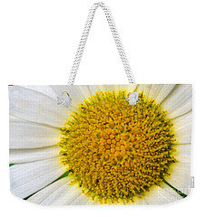 White Daisy Close Up Weekender Tote Bag