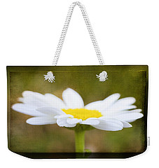 White Daisy Weekender Tote Bag by Eduard Moldoveanu