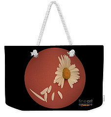 Encapsulated Daisy With Dropping Petals Weekender Tote Bag