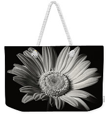 White Daisy In Black And White Weekender Tote Bag