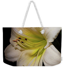 White Daylily In The Garden Weekender Tote Bag
