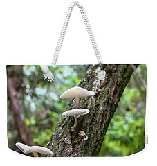 White Deer Mushrooms Weekender Tote Bag by Christopher L Thomley