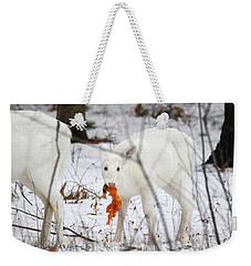 White Deer With Squash 5 Weekender Tote Bag
