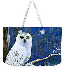 White Delivery Weekender Tote Bag
