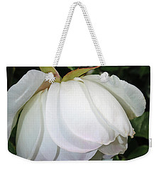 Weekender Tote Bag featuring the photograph White Floral by Tikvah's Hope