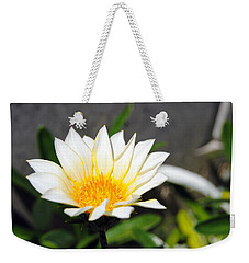 White Flower 3 Weekender Tote Bag
