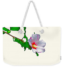 White Flower And Leaves Weekender Tote Bag