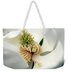 Weekender Tote Bag featuring the photograph Magnolia Blossom by Meta Gatschenberger