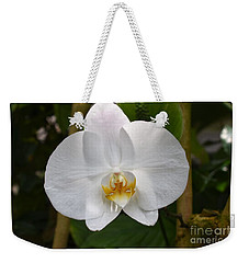 White Flower With Golden Accents Weekender Tote Bag