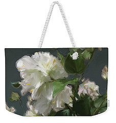 White Flowers 103 Weekender Tote Bag