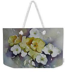 White Flowers, Yellow Flowers... Weekender Tote Bag