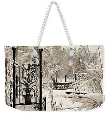 Weekender Tote Bag featuring the photograph White Garden by Deborah Moen