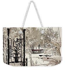 White Garden Weekender Tote Bag by Deborah Moen