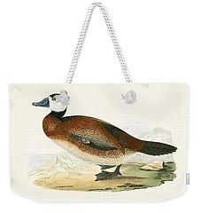 White Headed Duck Weekender Tote Bag by English School