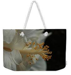 White Hibiscus Weekender Tote Bag
