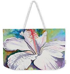 White Hibiscus Waimeae Weekender Tote Bag