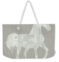 White Horse 1- Art By Linda Woods Weekender Tote Bag