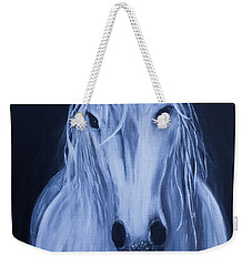 White Horse Weekender Tote Bag by Stacey Zimmerman
