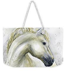 White Horse Watercolor Weekender Tote Bag