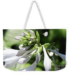 White Hosta Bloom Weekender Tote Bag