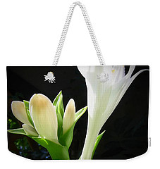 White Hostas Blooming 7 Weekender Tote Bag by Maciek Froncisz