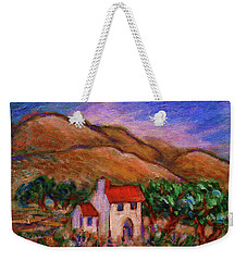 Weekender Tote Bag featuring the painting White House In An Oak Grove by Xueling Zou