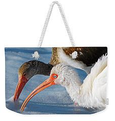 White Ibises Weekender Tote Bag