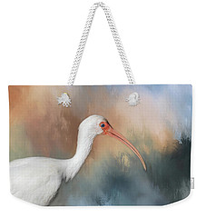 Weekender Tote Bag featuring the photograph White Ibis - 2 by Kim Hojnacki
