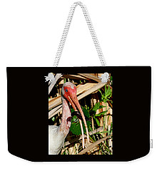 White Ibis Eating Crayfish Weekender Tote Bag