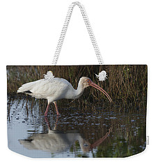 White Ibis Feeding Weekender Tote Bag