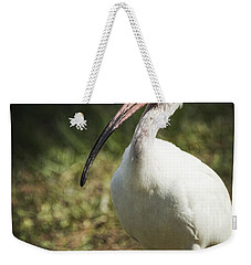 White Ibis On A Walk  Weekender Tote Bag by Saija  Lehtonen