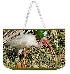 White Ibis With Crayfish Weekender Tote Bag