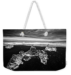 White Ice Black Beach - Fascinating Iceland Weekender Tote Bag by Matthias Hauser
