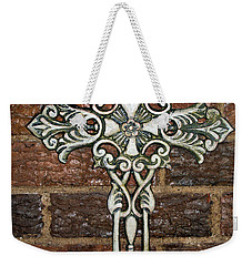 White Iron Cross 1 Weekender Tote Bag by Angelina Vick