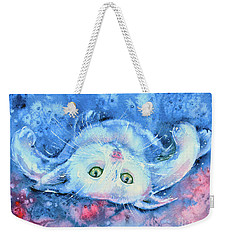 White Kitten  Weekender Tote Bag